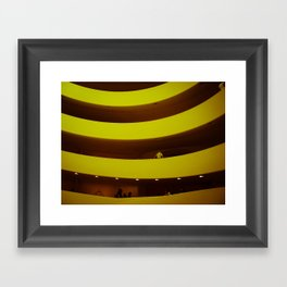 museum curves Framed Art Print
