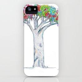 Rainbow Tree Huia Art iPhone Case