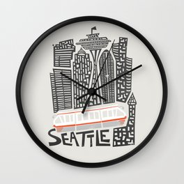 Seattle Cityscape Wall Clock