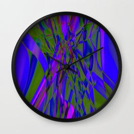Recycled Smoke Abstract Design Wall Clock
