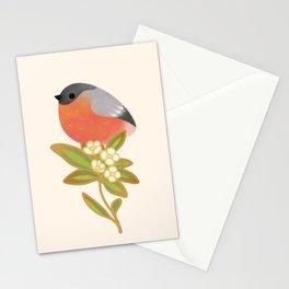 Eurasian bullfinch Stationery Cards