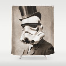 Portrait of a Sir Stormtrooper Shower Curtain