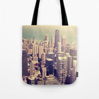 metropolis Tote Bags featuring Metropolis by farsidian
