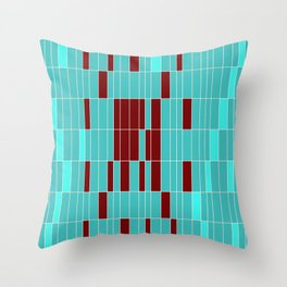 Alien Map Abstract Throw Pillow