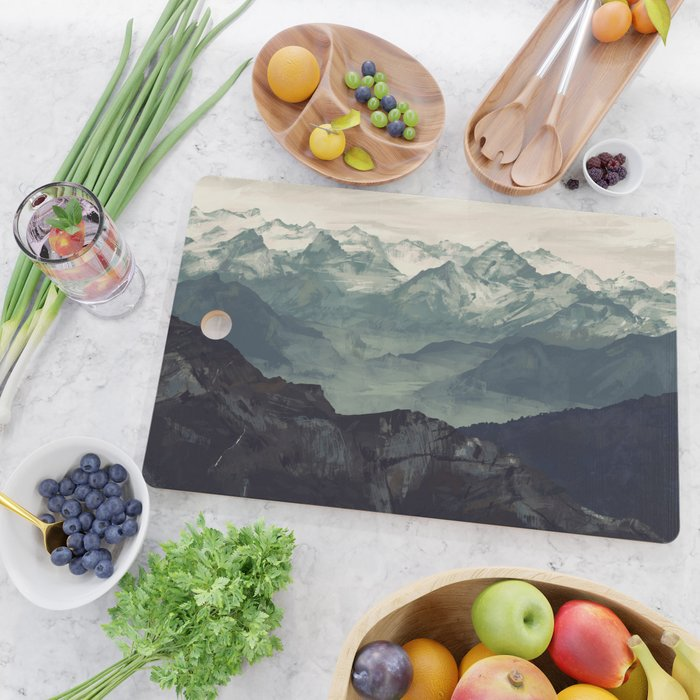 Mountain Fog Cutting Board