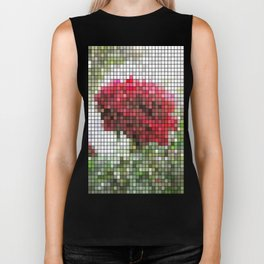 Red Rose with Light 1 Mosaic Biker Tank