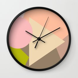 Geometry with colors Wall Clock