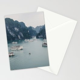 The Boats and Limestone Cliffs of Halong Bay, Vietnam Stationery Cards