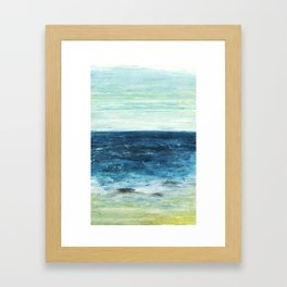 Horizon at the Baltic sea Framed Art Print