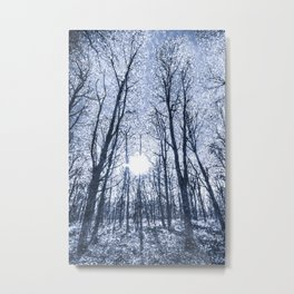 The Snow Forest  Blue Art Metal Print