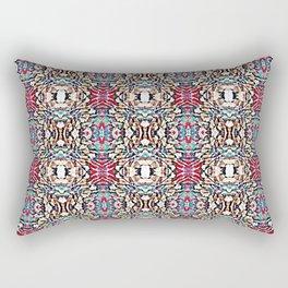 Vintage Pink and Blue Pattern Rectangular Pillow