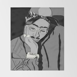 Thug in thought Throw Blanket