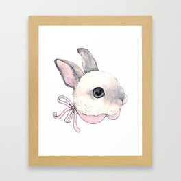 Fancy Bunny Framed Art Print