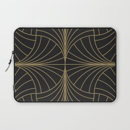 Diamond Series Inter Wave Gold on Charcoal Laptop Sleeve