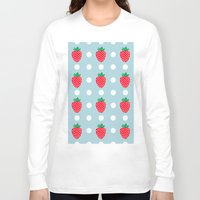 strawberry Long Sleeve T-shirts featuring strawberry by vitamin