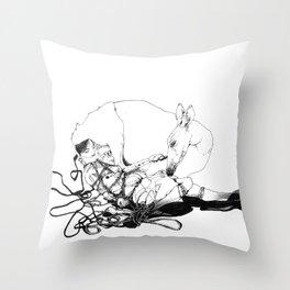 perfect bound Throw Pillow
