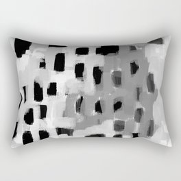 Rexa - abstract minimal modern grey black and white trendy home decor Rectangular Pillow