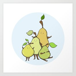 Pear Shapes Art Print