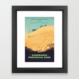 Sandbanks Provincial Park Poster Framed Art Print