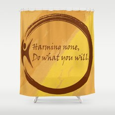 Harming None Do What You Will Color Background Shower Curtain