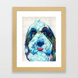 Bearded Collie Art - Dog Portrait by Sharon Cummings Framed Art Print