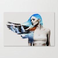 frozen Canvas Prints featuring Frozen by EclipseLio