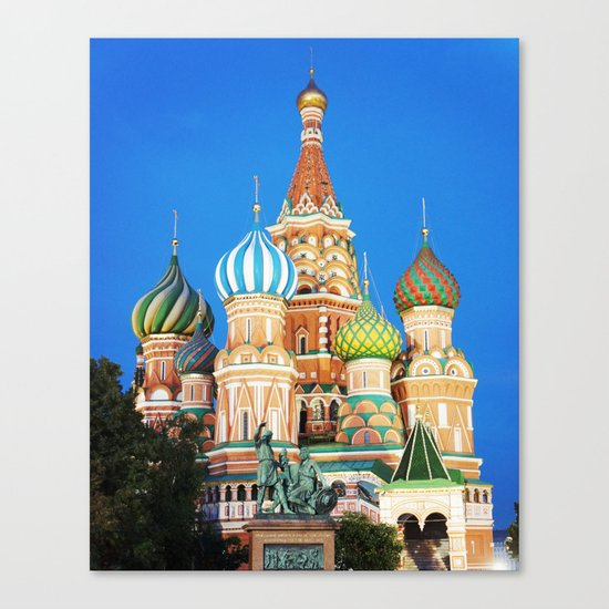 Colorful Moscow church Canvas Print