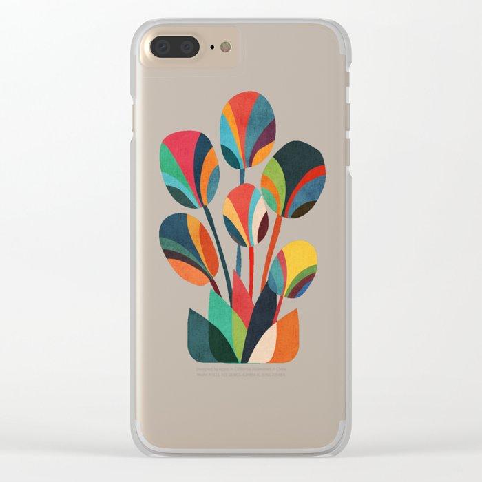 Ikebana - Geometric flower Clear iPhone Case