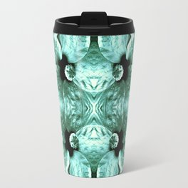 Shiny Green Flower Design, Pattern Travel Mug