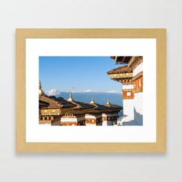 Bhutan: Sunset on Dochula Pass Framed Art Print