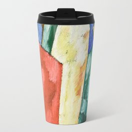 Abstraction: Blue, Yellow and Green by Marsden Hartley Travel Mug