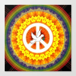 CND Peace and Love Canvas Print