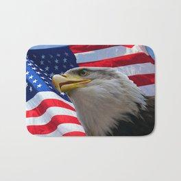 American Flag and Bald Eagle Bath Mat
