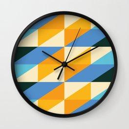 rhomboid reverb Wall Clock