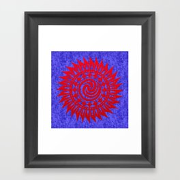 winzah red mandala Framed Art Print