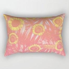 Sunflower Party #4 Rectangular Pillow