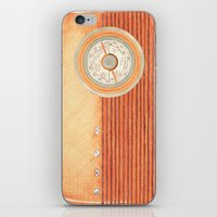 radio iPhone & iPod Skins featuring Radio Silence by One Curious Chip