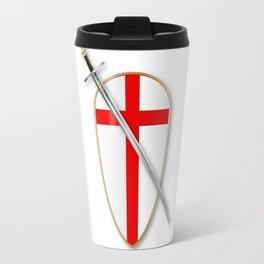 Crusaders Shield and Sword Travel Mug