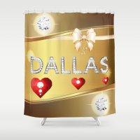 dallas Shower Curtains featuring Dallas 01 by Daftblue