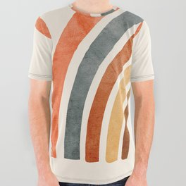 Abstract Rainbow 88 All Over Graphic Tee
