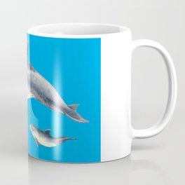 Bottlenose dolphin blue background Coffee Mug
