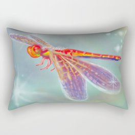 Glowing Dragonfly Rectangular Pillow