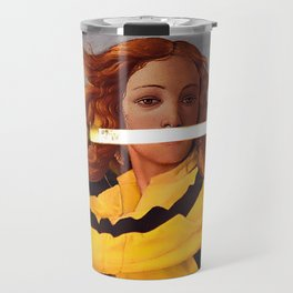 Botticelli's Venus & Beatrix Kiddo in Kill Bill Travel Mug
