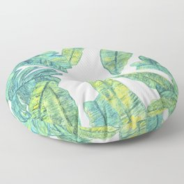 tropical daze Floor Pillow