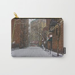 Snowy street Greenwich Village NYC Carry-All Pouch