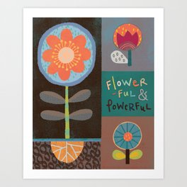 Flowerful Art Print