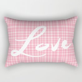 Love Blushing Rose Rectangular Pillow