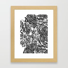 2000 Waves Black Framed Art Print