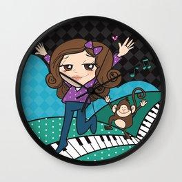 Music can take you far away Wall Clock