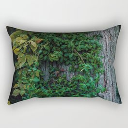 Ivy upon the Tree (Color) Rectangular Pillow